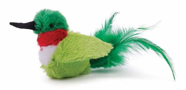 Our Pets Play-N-Squeak Real Birds Fly Over Interactive Cat Toy