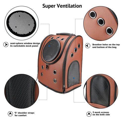 cat backpack ventilation
